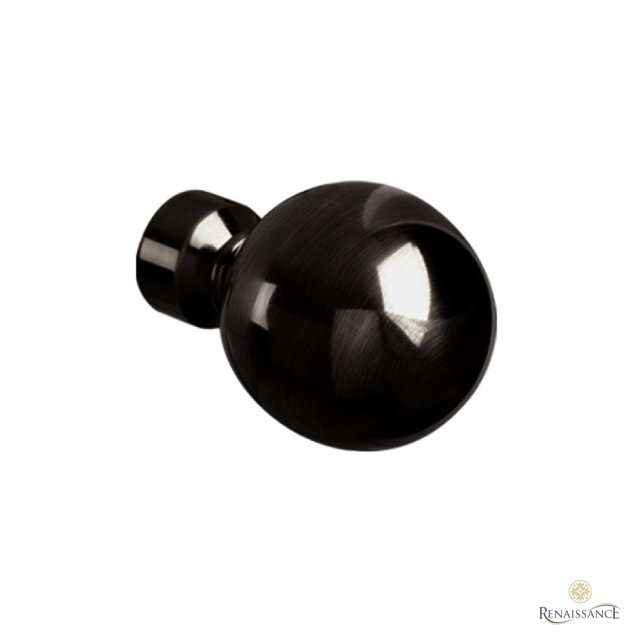 Black Nickel 35mm Spectrum Plain Ball Finial