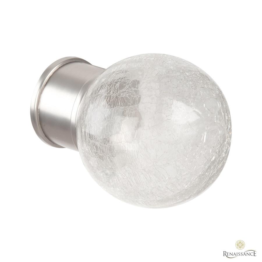 Titanium 50mm Spectrum Crackled Glass Finial