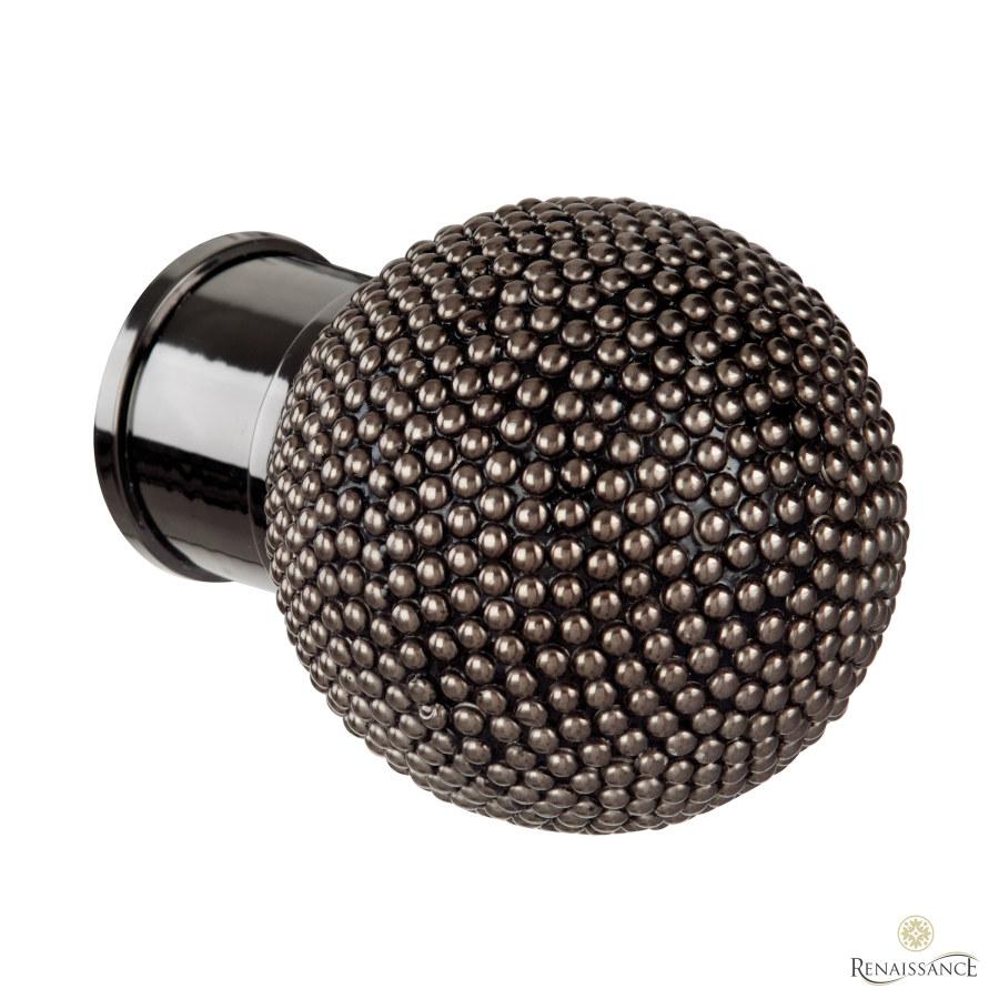 Black Nickel 50mm Spectrum Studded Ball Finial