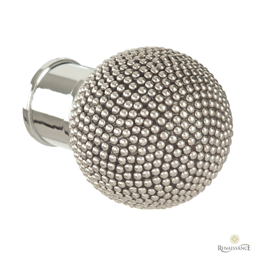 Polished Silver 50mm Spectrum Studded Ball Finial