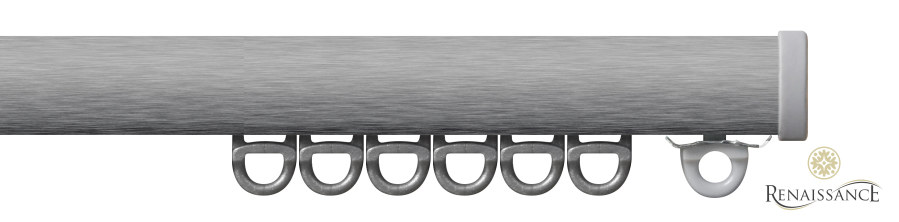 Brushed Steel 6.00m (19ft 8in) Mini Professional Small Curved Profile Complete Kit