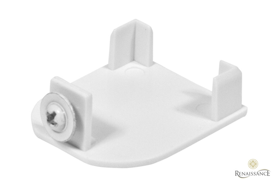 White Closed Cassette End Cap