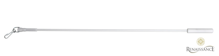 White 75cm (30in) Metal Draw Rod