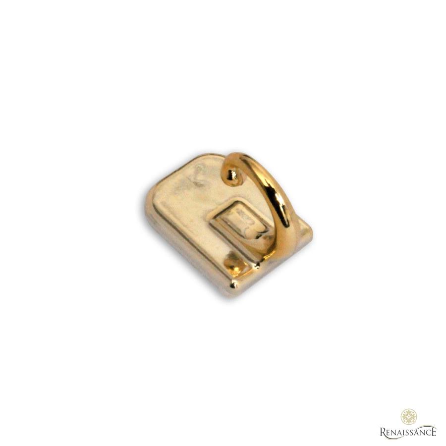 Brass Self Adhesive Tieback Hook Pack of 100