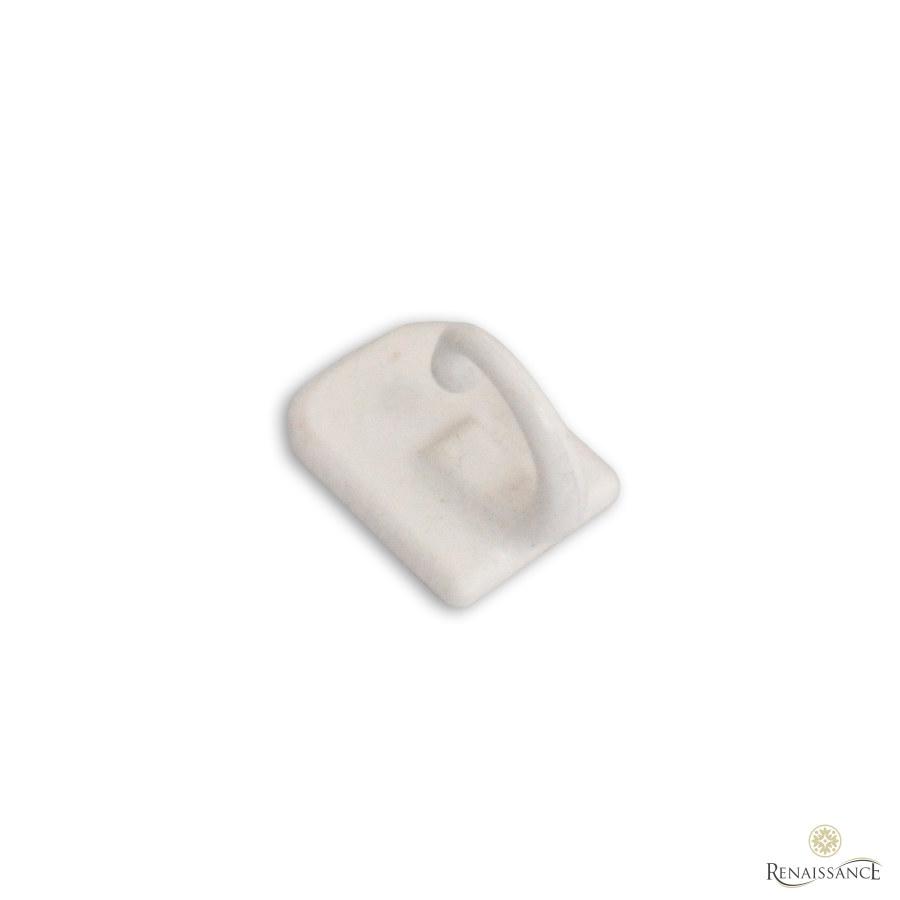 White Self Adhesive Tieback Hook Pack of 100