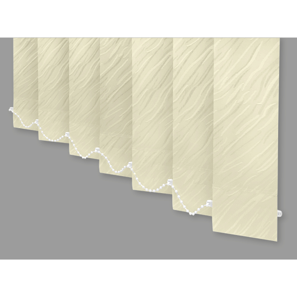 Cream 210cm (83in) Width 240cm (94in) Drop Cirrus Patterned Vertical Blind