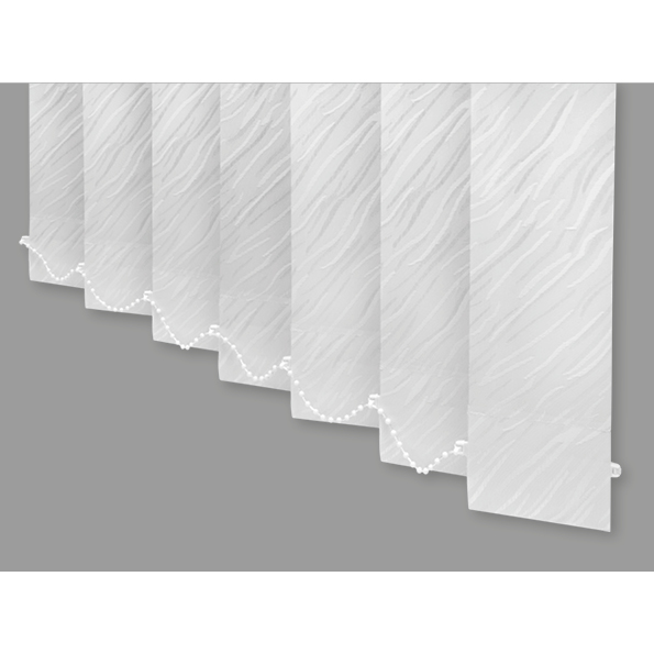 White 240cm (95in) Width 140cm (54in) Drop Cirrus Patterned Vertical Blind